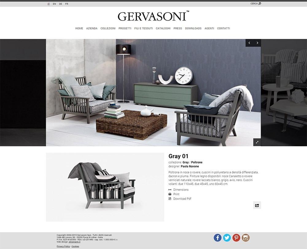 Sito gervasoni mobili altrementi adv drupal for Sito arredamento design